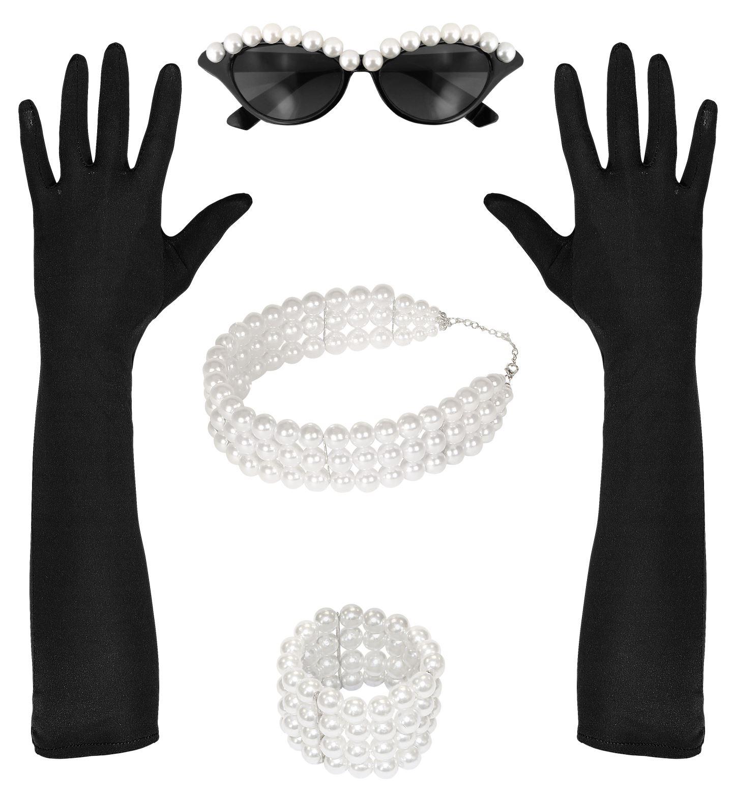 Αποκριάτικο Σέτ (Γάντια,Γυαλιά,Βραχιόλι Και Κολλιέ)