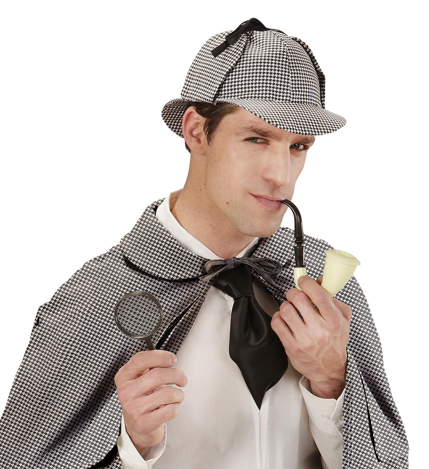 Αποκριάτικο Σέτ Ντετέκτιβ (Πίπα ,Καπέλο Και Φακός)