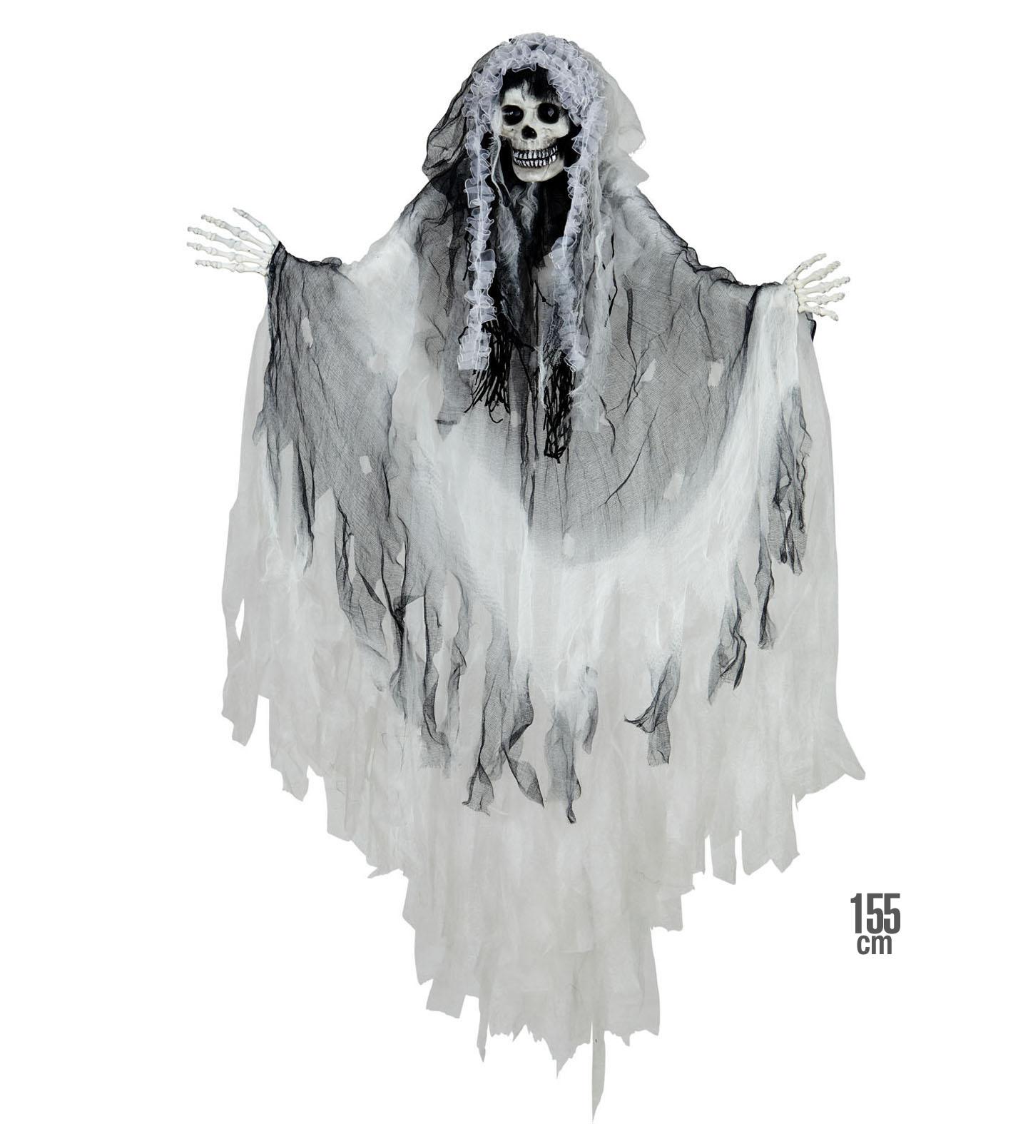 Διακοσμητικό Στοιχείο Τρόμου Σκελετός Με Ύφασμα 155cm
