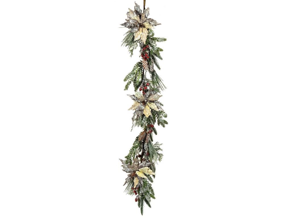 Χριστουγεννιάτικη Γιρλάντα Με Γκί 20 x 120(h)cm