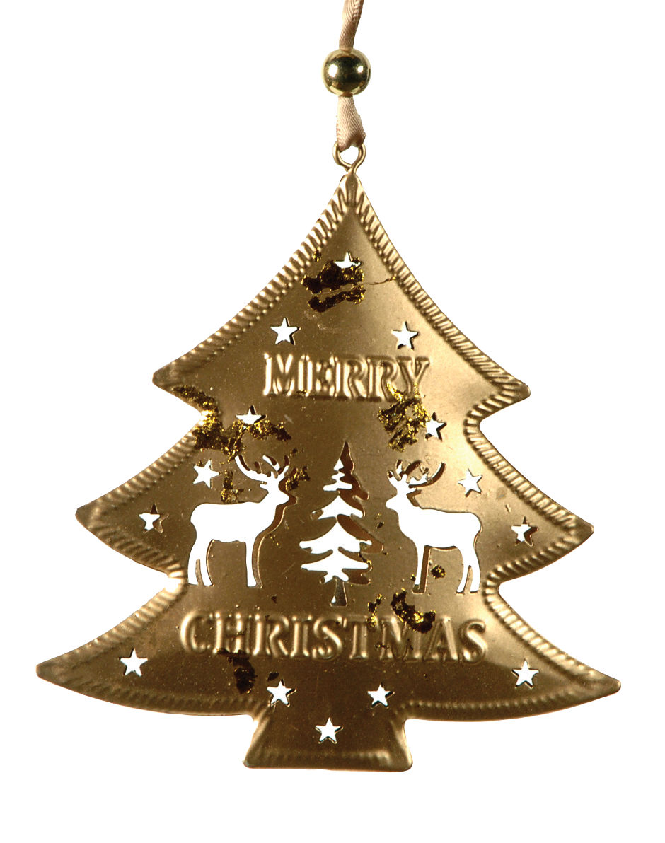METAL PENDANT CHRISTMAS TREE 11 x 1 x 12 (h) cm