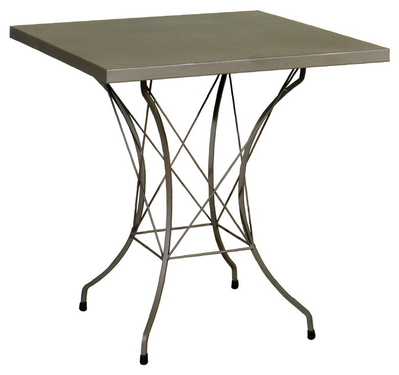 Agalvanisto square metal table 70 x 70 x 71 (h) cm