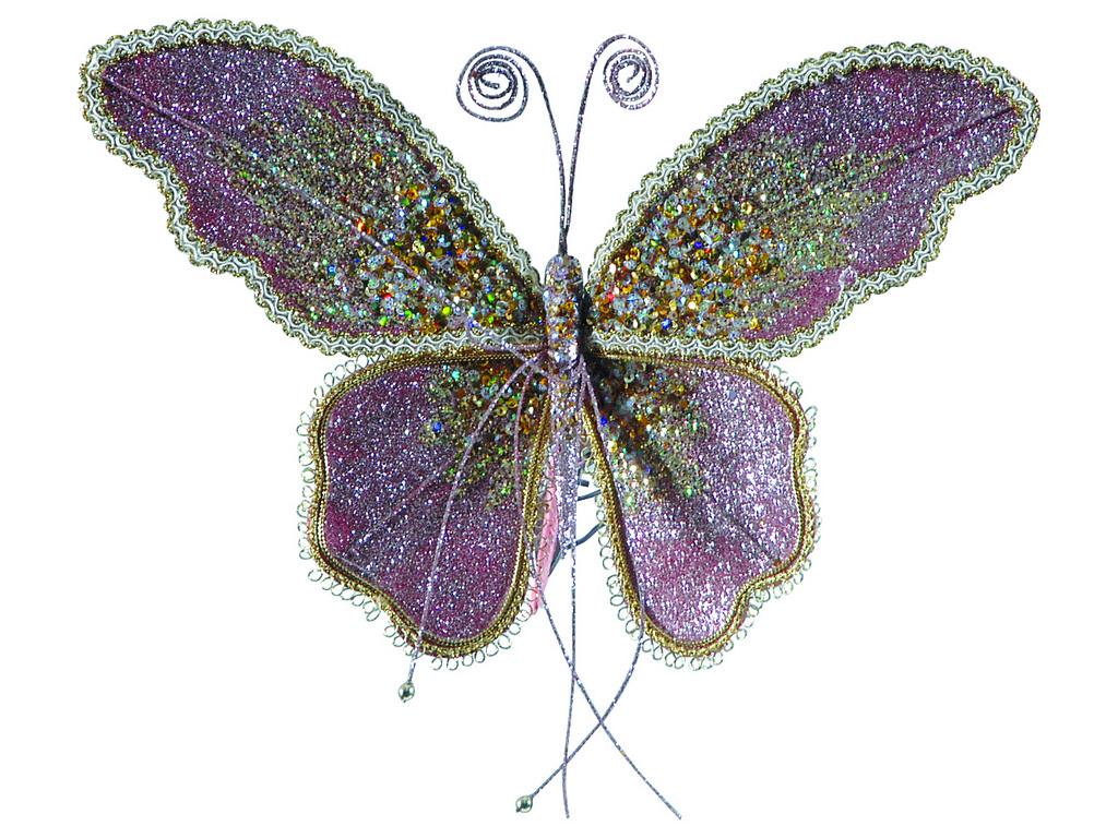 Ρόζ Κρεμαστά Διακοσμητικά Φτερά 14(h) x 16 x 5cm