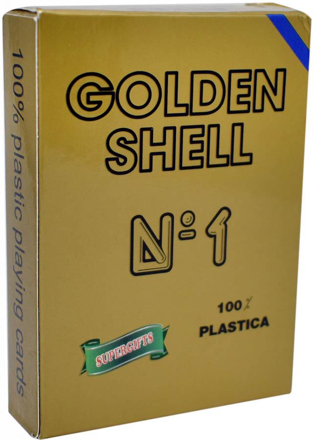 Πλαστική Τράπουλα Golden Shell Μπλέ