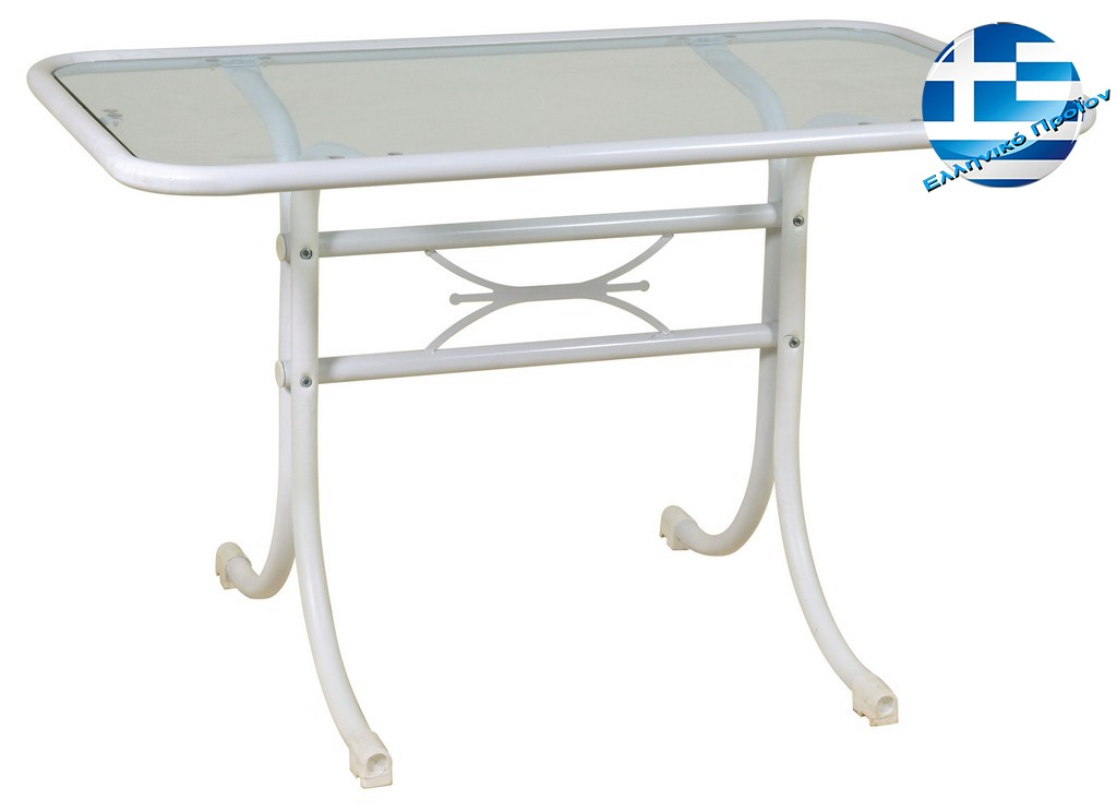 Metal Parallelogram table wrought-iron 120 x 70 x 73 (h) cm