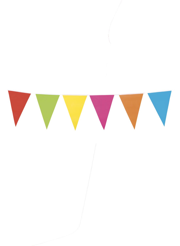 Πολύχρωμη Αποκριάτικη Διακοσμητική Γιρλάντα Σημαιάκια 10 Μέτρα