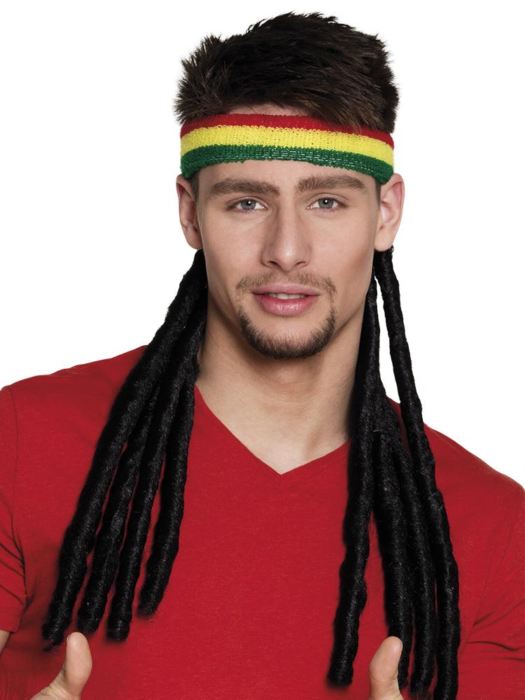 Αποκριάτικο Καπέλο Τζαμαικανού Με Ράστα Μαλλιά