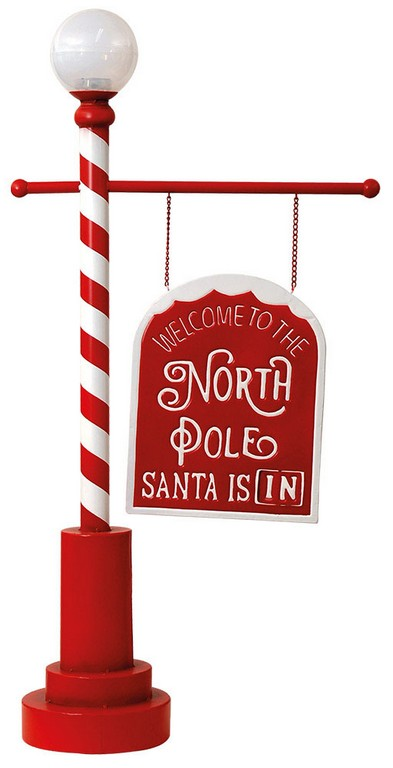 Christmas Decorative Sign With Solar Panel For Light 58 x 24 x 114(h)cm