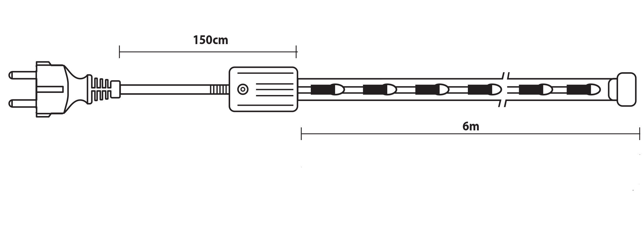 Gs Μπλέ Φωτοσωλήνας Με Πρόγραμμα ,6 Μέτρα ,Ø13mm - 3w