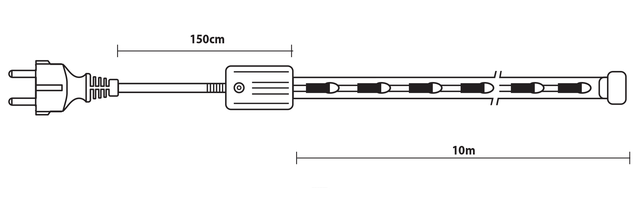 Gs Πολύχρωμος Φωτοσω΄λήνας Με Πρόγραμμα Απόστασης 10 Μέτρων ,Ø13mm - 3w