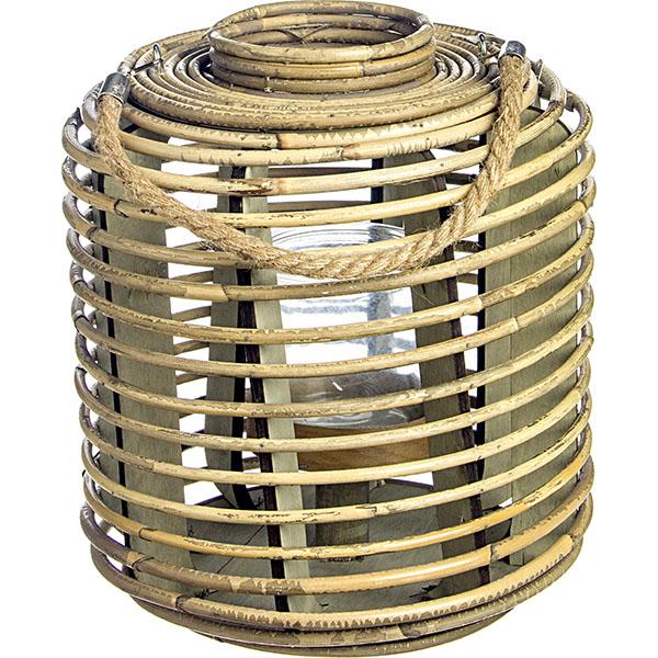 Ξύλινο Διακοσμητικό Φανάρι Με Κηροπήγιο 31 x 40(h)cm