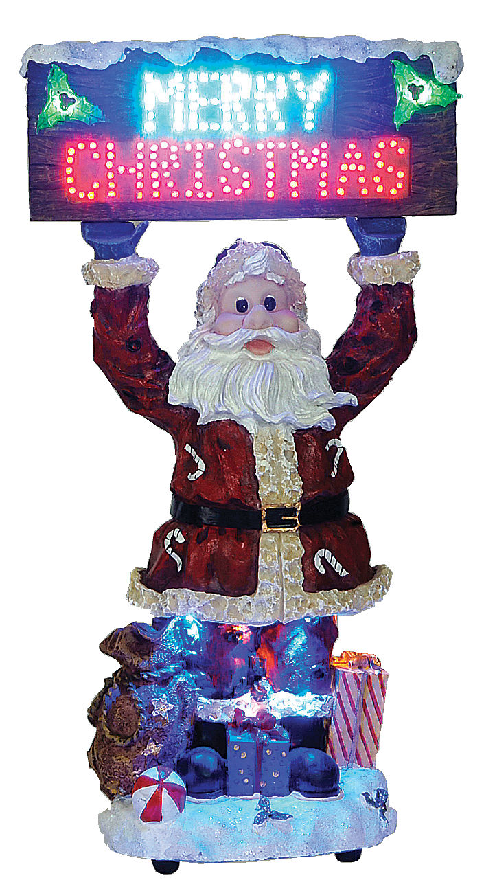 OPTIKAL SANTA CLAUS WITH OPTICAL FIBER,44cm