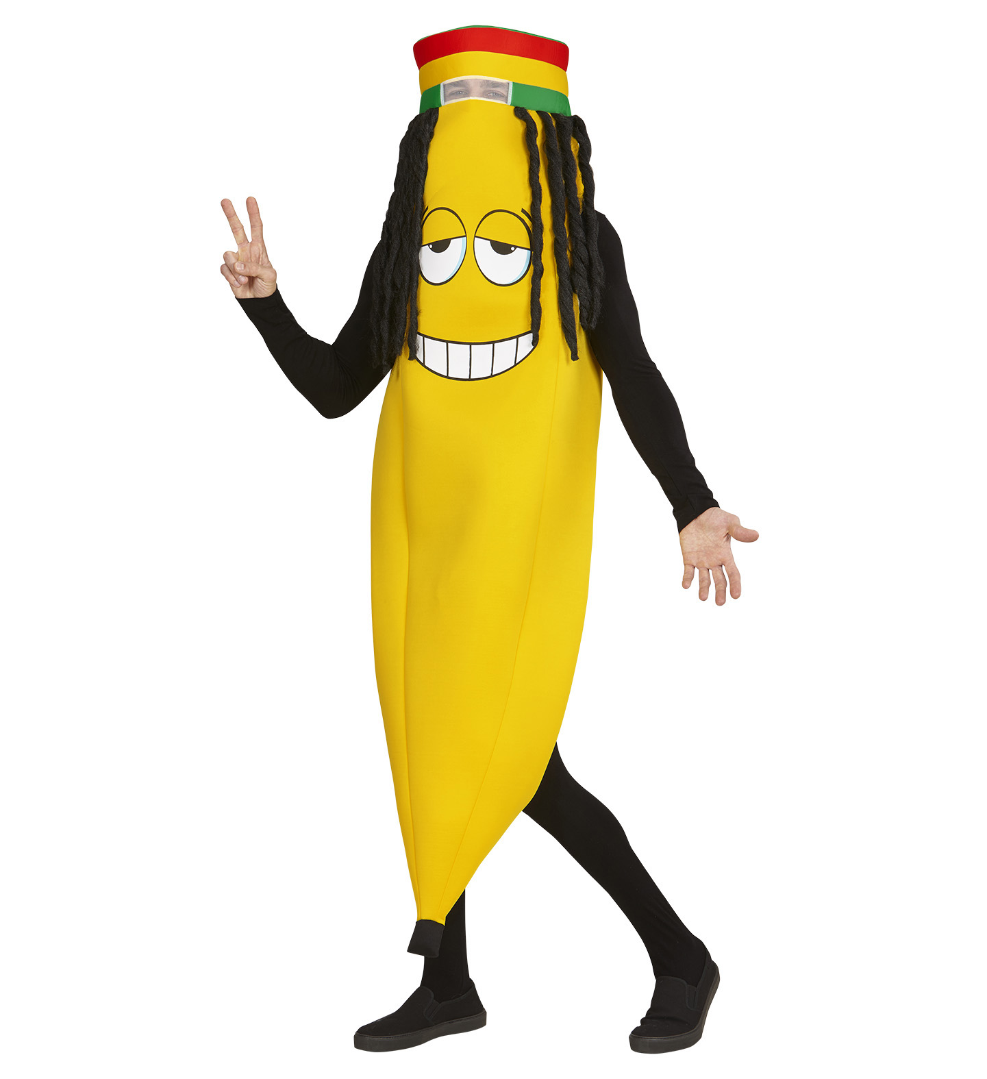 Αποκριάτικη Στολή Μπανάνα Με Ράστα
