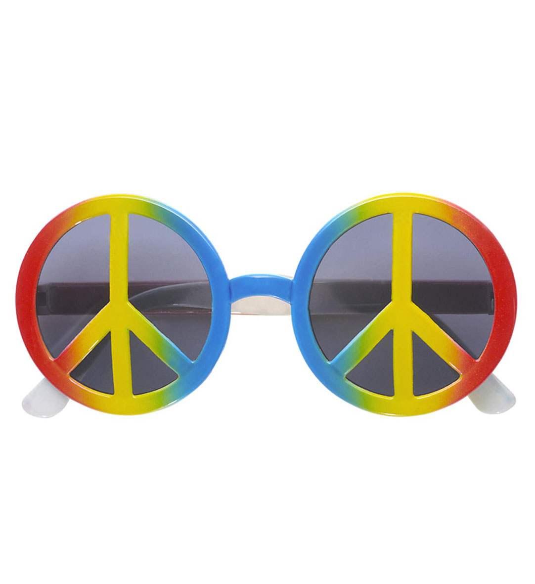 Πολύχρωμα Αποκριάτικα Γυαλιά Love and Peace