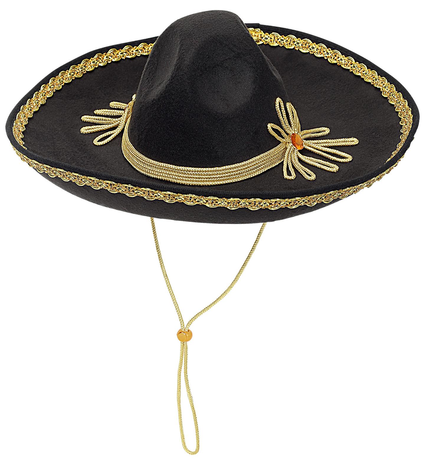 Μάυρο Αποκριάτικο Καπέλο Μεξικάνου 50cm