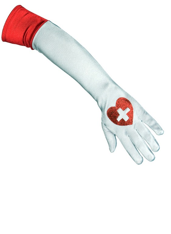 Αποκριάτικα Γάντια Νοσοκόμας 47cm