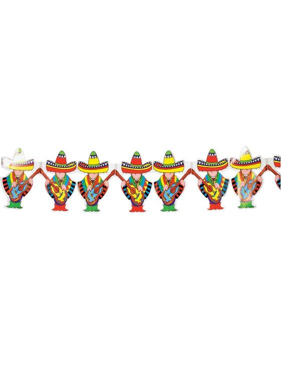 Αποκριάτικη Διακοσμητική Γιρλάντα Μεξικάνοι 4 Μέτρων