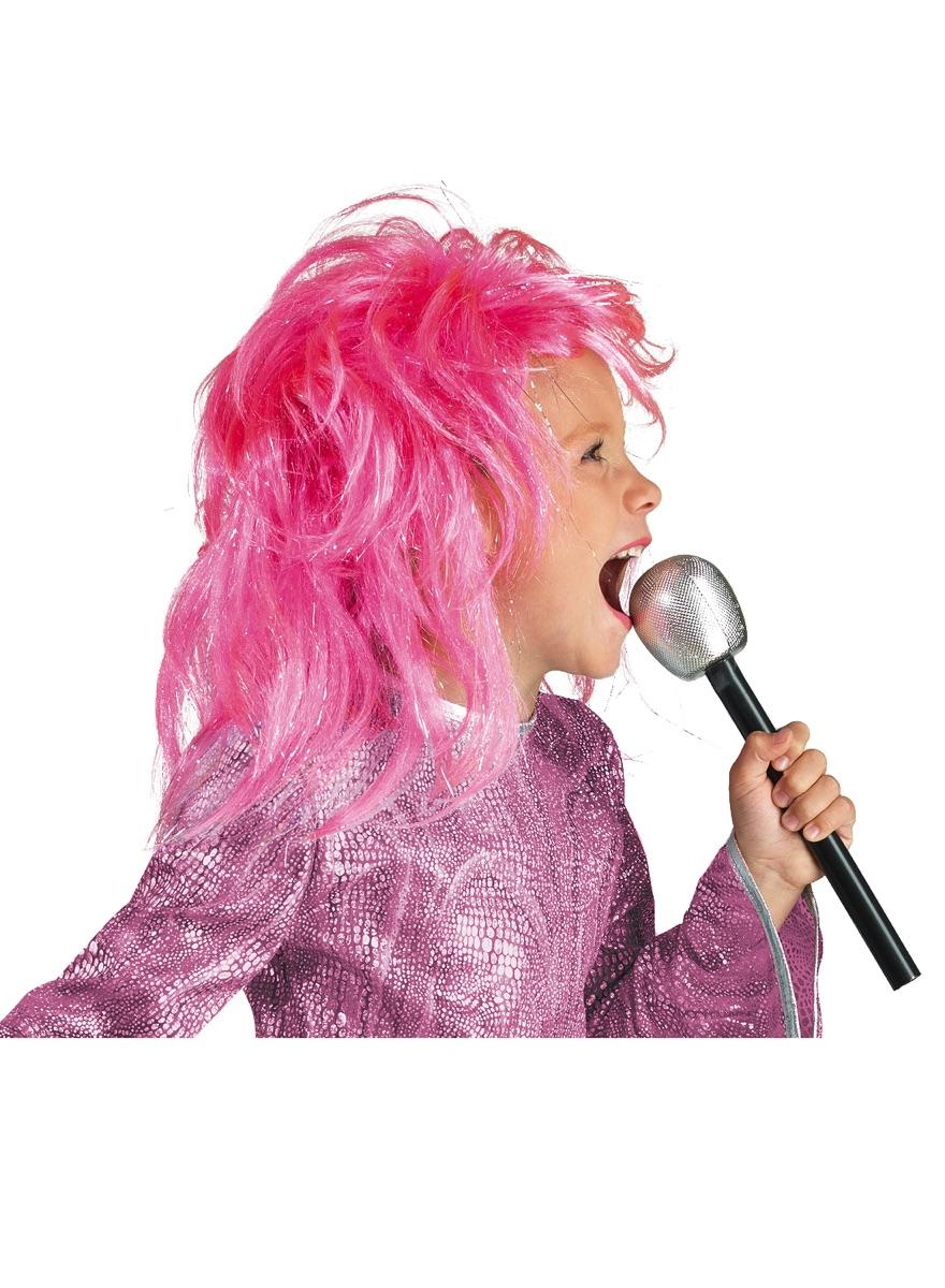 Ρόζ Παιδική Αποκριάτικη Περούκα Diva