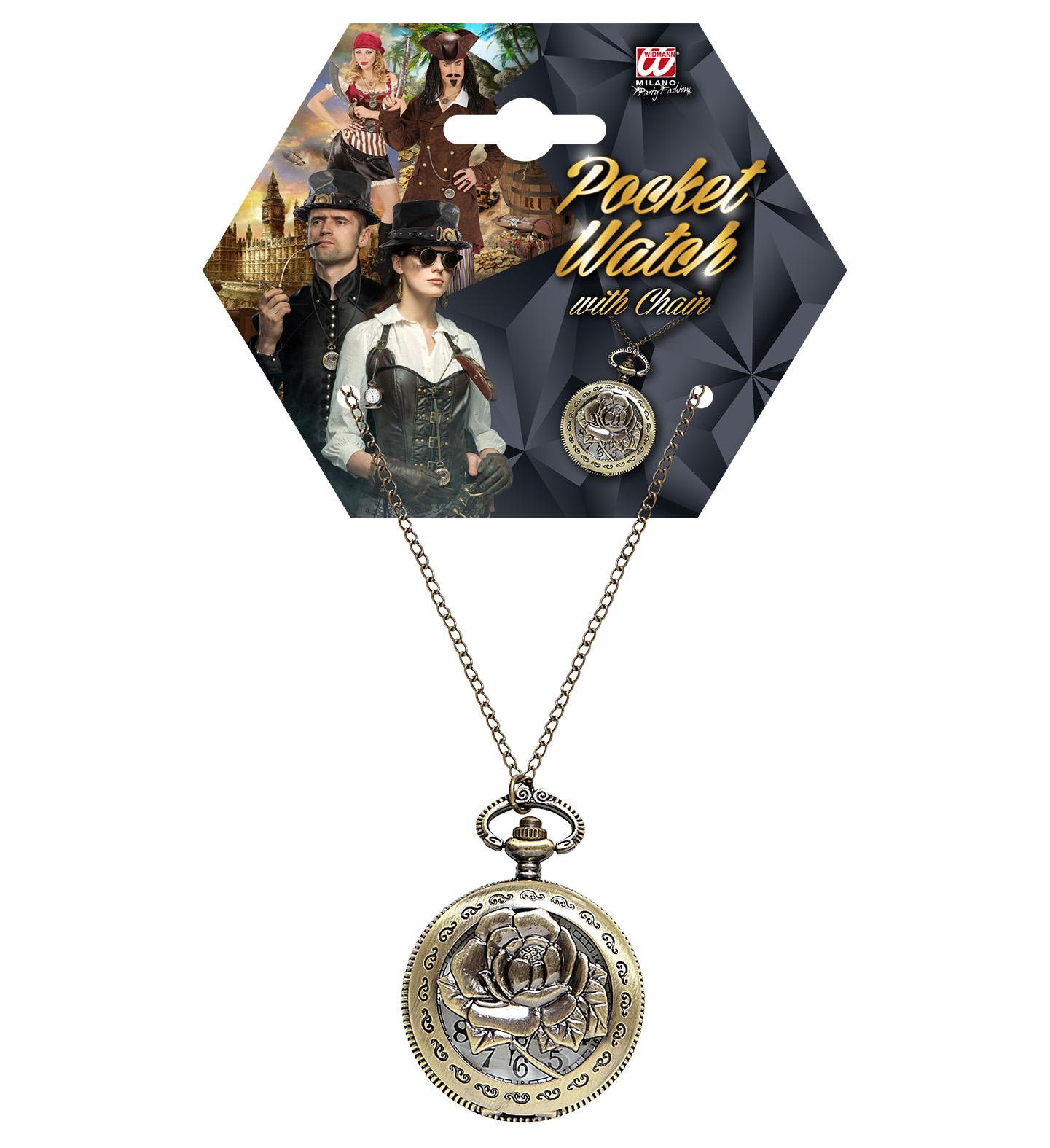 Αποκριάτικο Ρολόι Πειρατή Με Αλυσίδα
