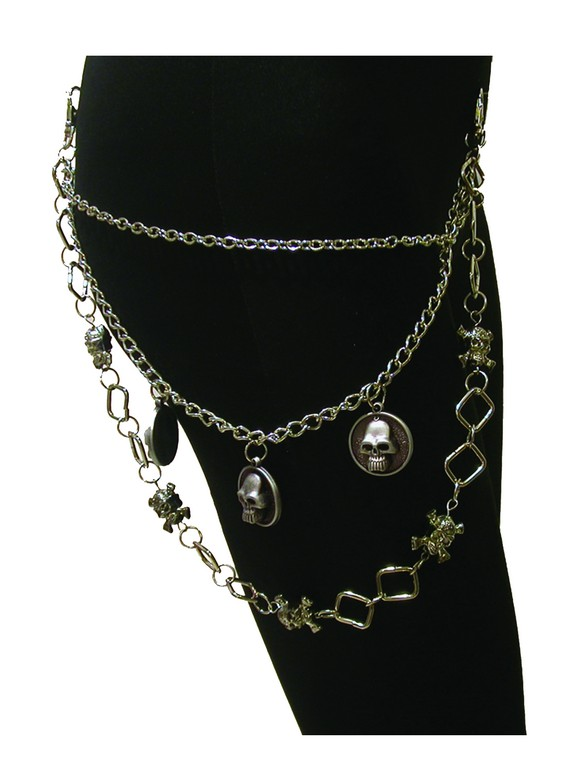 Halloween CHAIN PIRATE WITH Skull