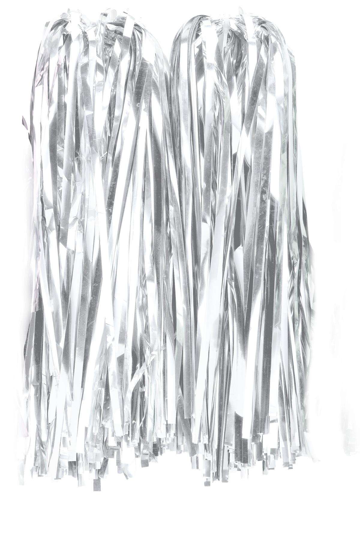 Λευκά Αποκριάτικα Πόν Πόν 38cm, (Σέτ 2 Τεμαχίων)
