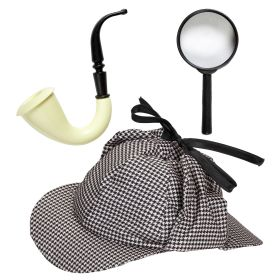 Carnival Set Detective (Pipe,Hat And Lens)