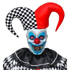 Αποκριάτικη Μάσκα Κλόουν Τρόμου Με Καπέλο