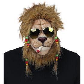 Λάτεξ Αποκριάτικη Μάσκα Λιοντάρι Με Ράστα Και Γυαλιά