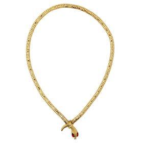 Χρυσό Αποκριάτικο Μενταγιόν Φίδι