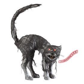 Διακοσμητική Γάτα Zombie Με Φώς Και Ήχο 28cm