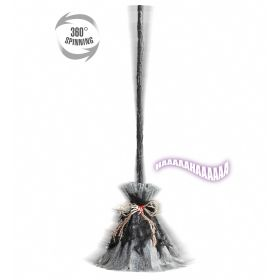 Halloween WITCH CLEANER WITH SOUND AND OPENING 85 cm