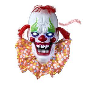 Διακοσμητική Μάσκα Κλόουν Με Κίνηση Στο Στόμα Και Φώς 58cm