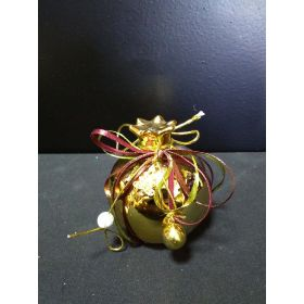 GOLD CERAMIC DECORATIVE POMEGRANATE 8cm