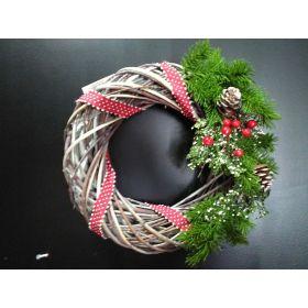 Ξύλινο Χριστουγεννιάτικο Διακοσμητικό Στεφάνι