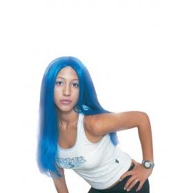 Γαλάζια Αποκριάτικη Περούκα Σύλβια