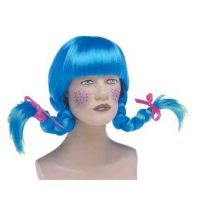 Γαλάζια Αποκριάτικη Περούκα Πίπη