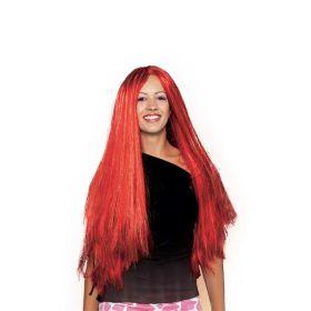 Κόκκινη Μακριά Αποκριάτικη Περούκα Φωτιά
