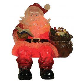 Φωτιζόμενος Ακρυλικός Άγιος Βασίλης Με Θερμό Φωτισμό 42 CM