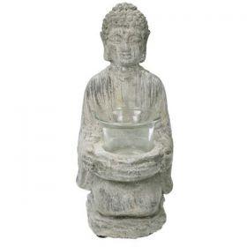 Διακοσμητικός Βούδας Τσιμέντο Με Κηροπήγιο 11 x 10 x 21,5(h)cm