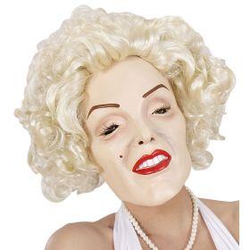 Λάτεξ Αποκριάτικη Μάσκα Marilyn Με Περούκα