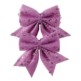 Christmas bow 12cm,SET 2 PIECES