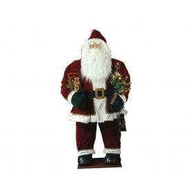 PLUSH SANTA CLAUS DECORATION WITH MUSIC 180cm