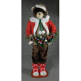 DIAKOSMITIKOS ARKOUDOS 150cm,SANTA CLAUS WITH MUSIC AND MOVEMENT