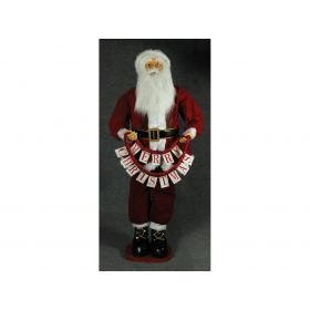 PLUSH SANTA CLAUS DECORATION 180cm