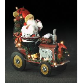SANTA CLAUS DECORATION with music BATTERY,46 x 20 x 50 (h) cm
