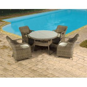 Rattan Dining Set 5 Pieces