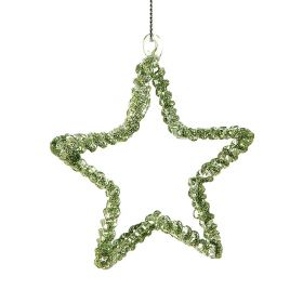 GLASS PENDANT CHRISTMAS STAR 8cm