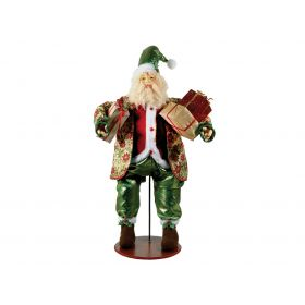 PLUSH SANTA CLAUS FLOOR DECORATION 100 (h) cm