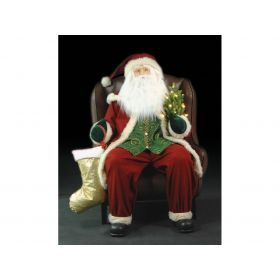 INFLATABLE SANTA CLAUS WITH MUSIC 90 x 120 (h) cm