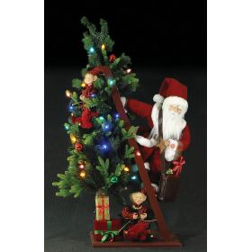 SANTA CLAUS WITH MUSIC AND MOVEMENT DECORATION,105cm